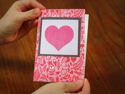 Homemade Origami Valentine Card Kissing Lips Popup – Homemade Valentine Card