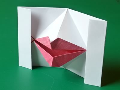 kissing lips origami finished