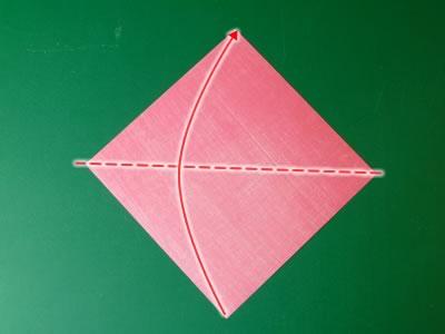 kissing lips origami valentine card step 1