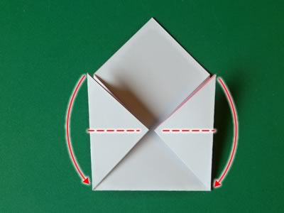kissing lips origami valentine card step 4