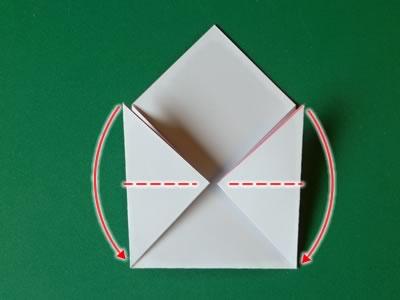 kissing lips origami valentine card step 4