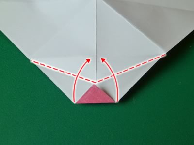 kissing lips origami valentine card step 8