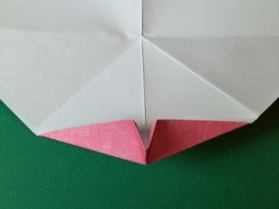 kissing lips origami valentine card step 8b