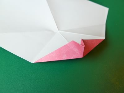 kissing lips origami valentine card step 8c