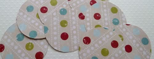 paper christmas decorations cut circles