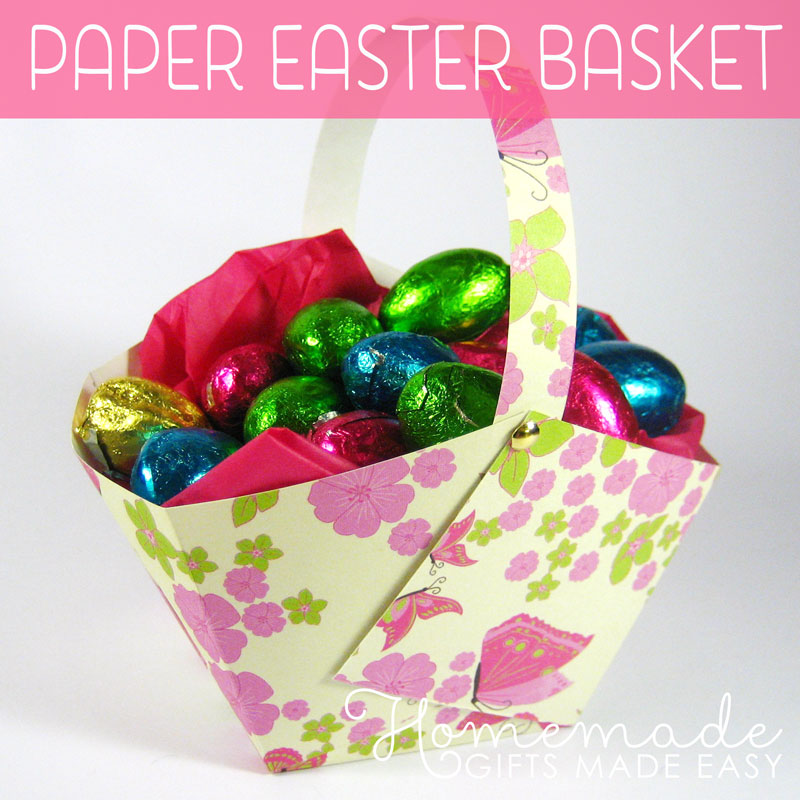 Easter basket to make paper easter basket instructions homemade easter gift ideas negle Images