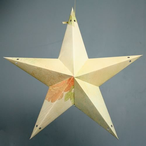make a paper star lantern printable template and