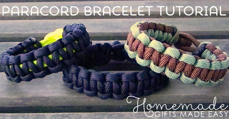 homemade birthday gift paracord bracelet