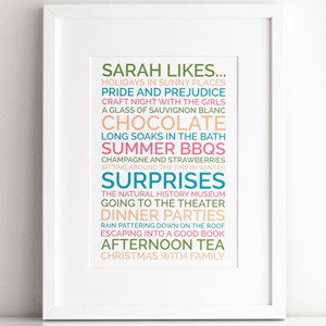 personalized likes poster
