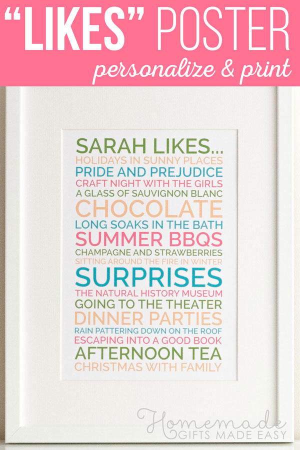 Personalised Likes Poster Generator Create Posters To