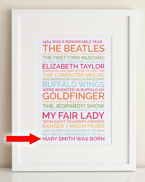 funny 50th birthday poster gift