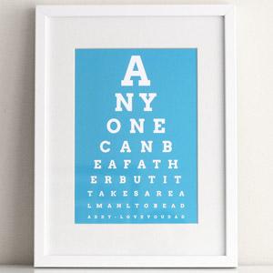 dad eye chart