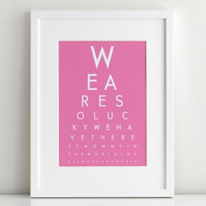 personalized mothers day gift eye chart