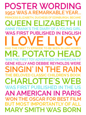 personalized 70th birthday poster preview