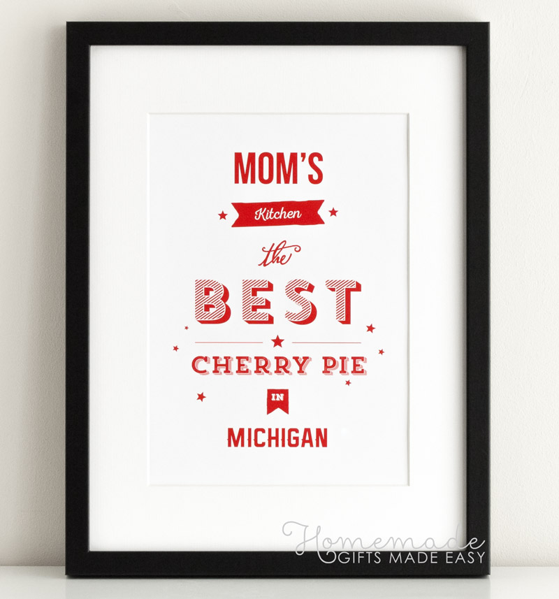 mom's kitchen personalized poster