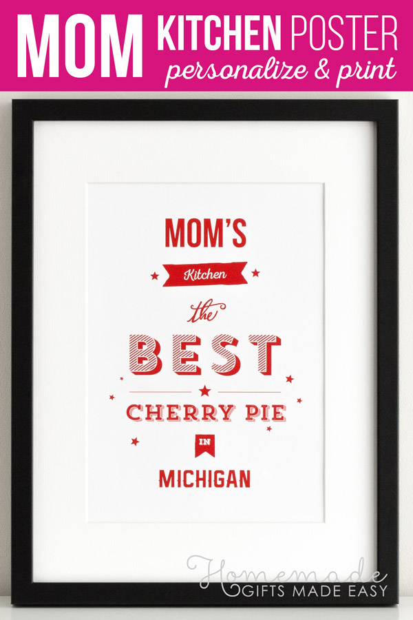 Mom S Kitchen Personalized Poster Gift