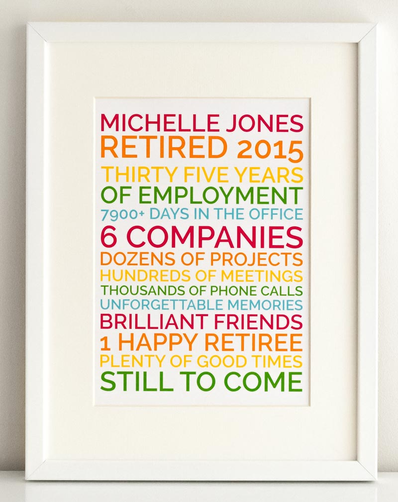 A Personalized Retirement Gift That S Funny And They Ll Love
