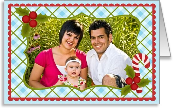 photo insert Christmas card checked