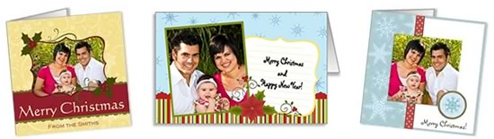 To Print At Home Photo Insert Christmas Cards Header