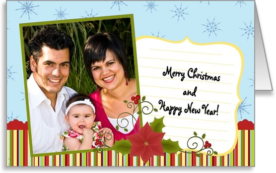 photo insert Christmas card photo and note