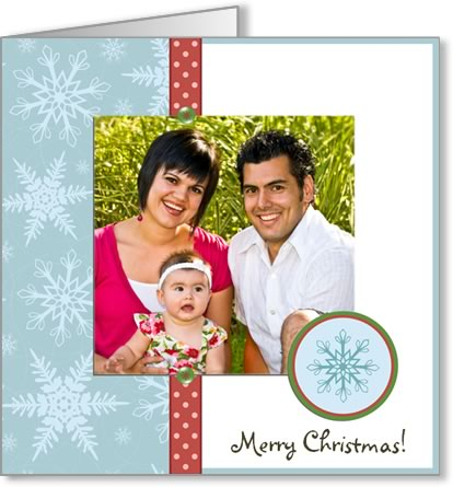 photo insert Christmas card snowflake