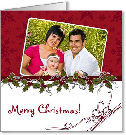photo insert Christmas card tucked photo