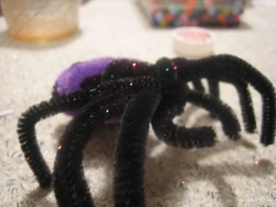 pipe cleaner animals - spider