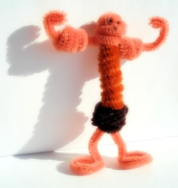 pipe cleaner art muscle man