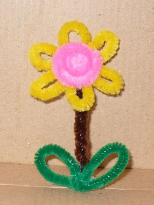 pipe cleaner ornaments daisy flower