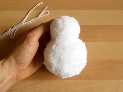 pom pom snowman christmas crafts step 2c