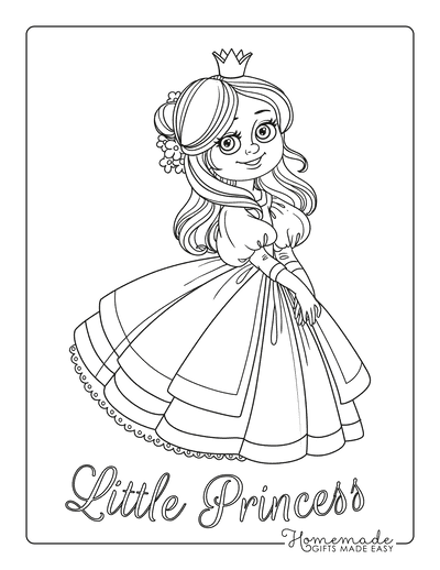 Princess Coloring Pages Beautiful Princess Flowers in Hair