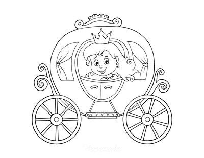 Princess Coloring Pages Carriage