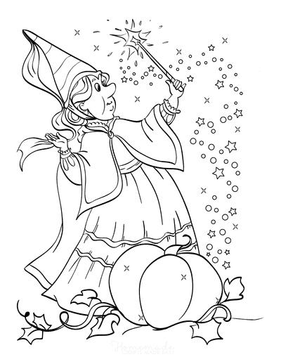 Princess Coloring Pages Fairy Godmother Cinderella Pumpkin