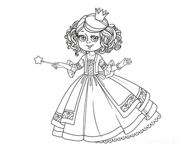 Princess Coloring Pages Fairy Princess