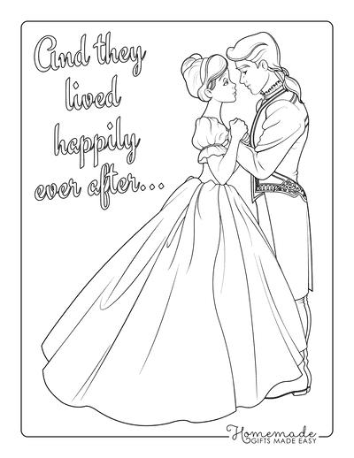 Princess Coloring Pages Prince Charming Cinderella