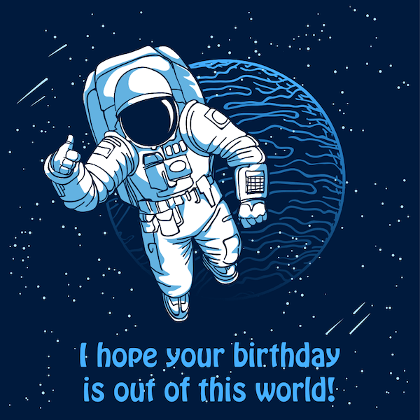 printable birthday cards - Out of This World