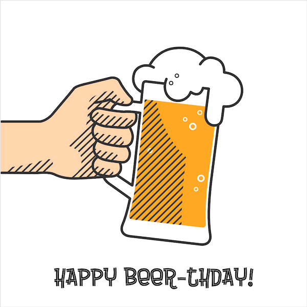 printable birthday cards - Beer-th-day