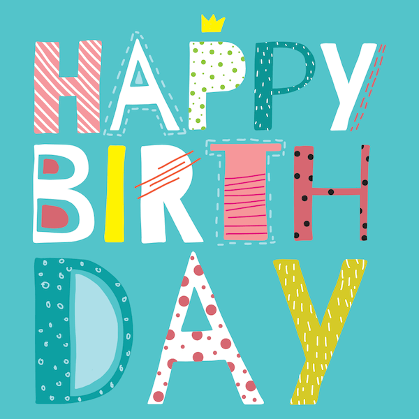 printable birthday cards - Colorful Patterns