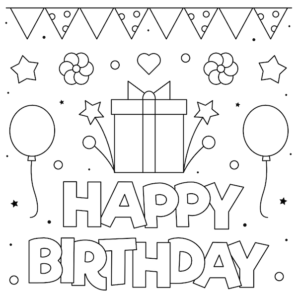 - 55 Best Happy Birthday Coloring Pages Free - Printable PDFs