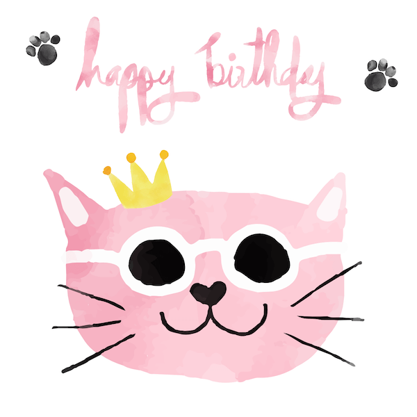 printable birthday cards - Cool Cat