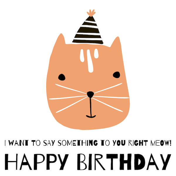 printable birthday cards - Right Meow