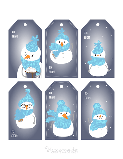 Printable Christmas Tags Cute Snowmen 6