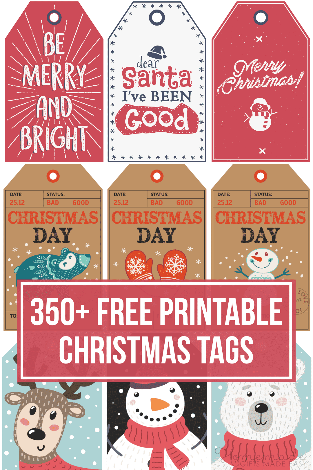 free printable christmas tags - 350+ tags