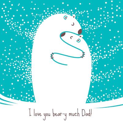 Printable Fathers Day Cards Bear Hug