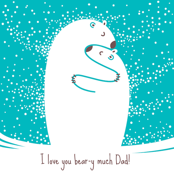 printable father's day cards - Love You Bear-y Much