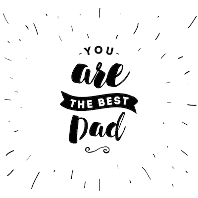 Printable Fathers Day Cards Best Dad Bw