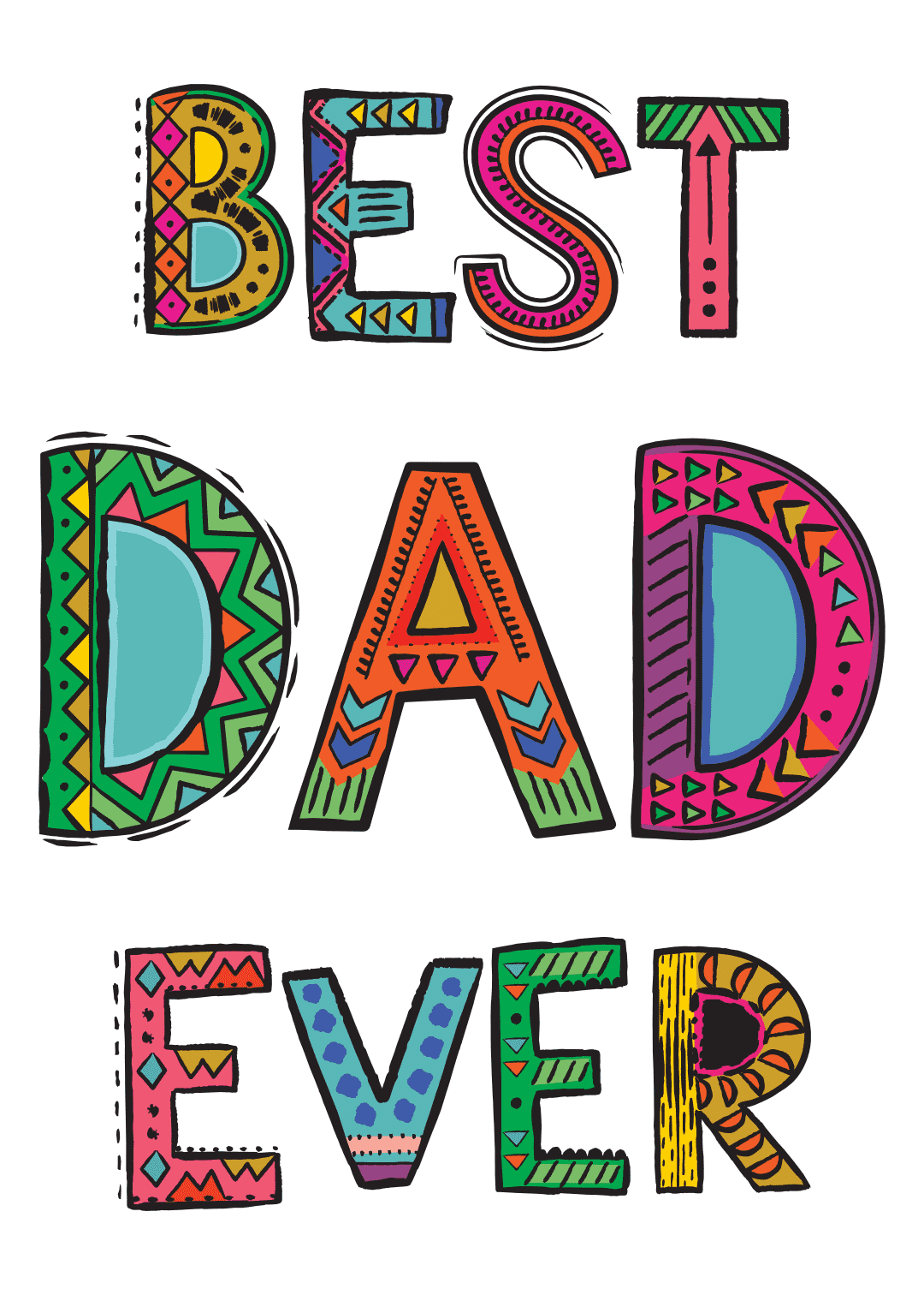 printable father's day cards - Best Dad Ever