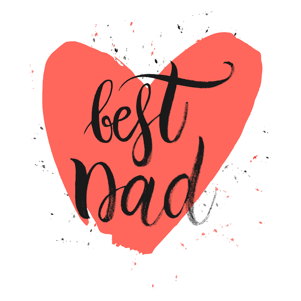 printable father's day cards - Best Dad Heart