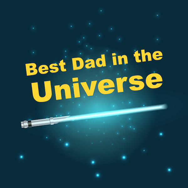 printable father's day cards - Best Dad in the Universe