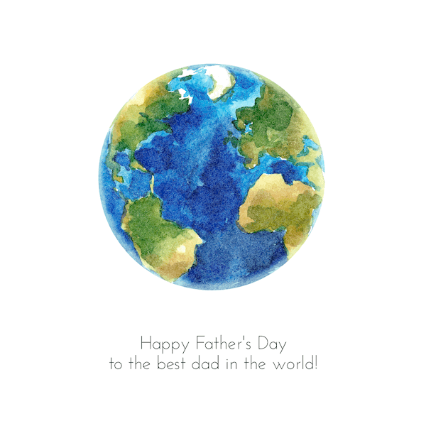 printable father's day cards - Best Dad on Earth